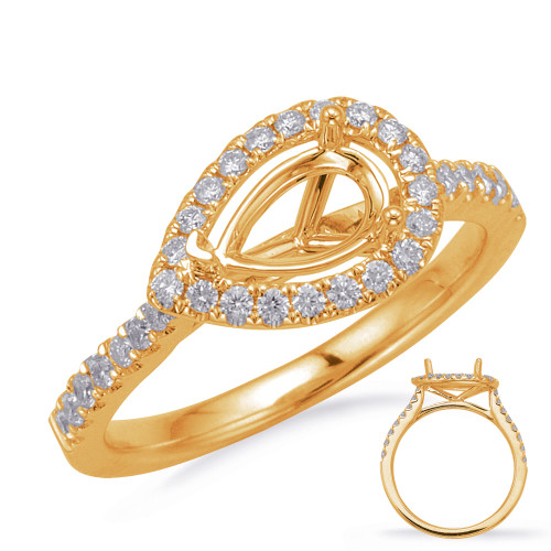 Diamond Engagement Ring  in 14K Yellow Gold    EN8208-7X5MYG