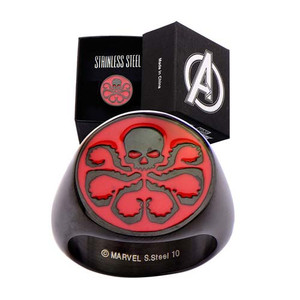 "Agents of Shield ""HYDRA RING"" Black Stainless steel size 9"