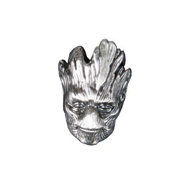 """GUARDIANS OF THE GALAXY """"GROOT"""" Head Pewter Lapel pin"""