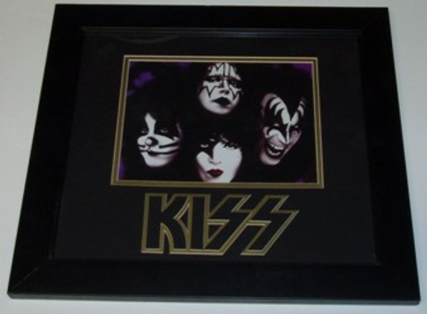 """KISS """"FACES"""" Framed, Matted, and Embossed 13x15 Picture"""