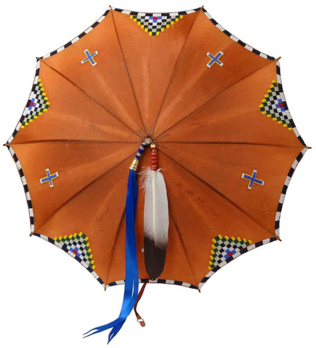 Native American Hand Beaded 1930's Umbrella