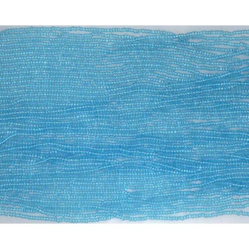 Czech Aqua Blue Transparent Glass Bead: 13/0 Cut