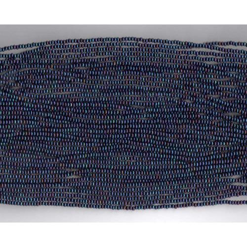 Czech Blue Iris Metallic Glass Bead: 11/0