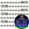 #2 Nickel Plated Brass Ball Chains with Connector - 18 Inch Length