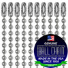 """#3 Aluminum Ball Chains with Connector - 24 Inch Length and Ball Chain Manufacturing seal stating """"made in the USA since 1938"""" and """"certified green business."""""""