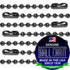 #3 Gun Metal Finish Ball Chains with Connector - 24 Inch Length