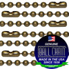#3 Medieval Brass Finish Ball Chains with Connector - 27 Inch Length