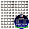 #3 Faceted Style Nickel Plated Steel Ball Chain Spool. Commonly used in crafting and jewelry making. The faceted beads that make up the chain are great at reflecting light.