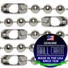 #20 Nickel Plated Steel Ball Chains with Connector - 18 Inch Length