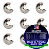 3/32 Inch Nickel Plated Brass Open Ball