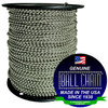 #6 Stainless Steel Ball Chain Spool is one of our most popular ball chain spools. It is rust resistant and has a high tensile strength. This ball chain is sold at low wholesale prices and is made in the USA at our Mount Vernon, NY factory.