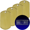 Brass Dog Tags - Blank Rolled Edge