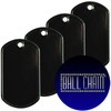 Black Coated Dog Tags - Rolled Edge Stainless Steel