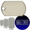 Monster Dog Tags - Blank Rolled Edge Stainless Steel - Shiny Finish