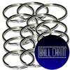 28mm Nickel Plated Steel Split Key Rings