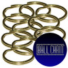 10mm Brass Plated Steel Split Key Rings