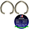 .072 Inch Oval Jump Rings - Nickel Plated Steel