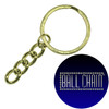 24mm Brass Plated Steel Split Key Rings with Chain & Jump Ring