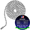 #6 Ball Chains Pre-Cut Three Foot Length Nickel Plated Brass