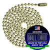 #6 Ball Chains Pre-Cut Three Foot Length Yellow Brass