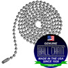 #6 Ball Chains Pre-Cut Three Foot Length Stainless Steel ceiling fan pull chains.  These pull chains are perfect for indoor and outdoor settings because they do not rust. Use them for your ceiling fan in your multi season sun room or your garage where you need light to work on your classic car.