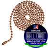 #6 Ball Chains Pre-Cut Three Foot Length Copper