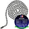 #6 Ball Chains Pre-Cut Three Foot Length Dungeon Finish