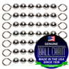 #6 Stainless Steel Ball Chain Fishing Swivels - 6 Ball Length