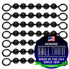 #10 Black Coated Ball Chain Fishing Swivels - 6 Ball Length