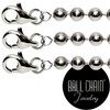 #3 Nickel Plated Brass Ball Chains with Lobster Claw - 30 Inch Length