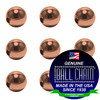2.1mm Round Metal Beads - Copper
