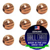 8.0mm Fluted Beads - Copper