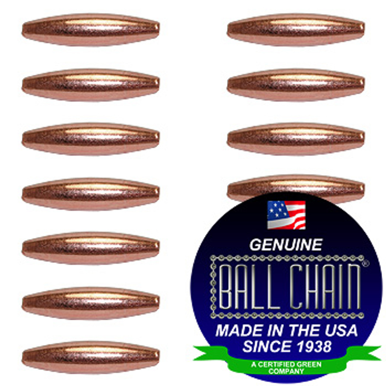 4.8mm x 19mm Elliptical Bars - Copper