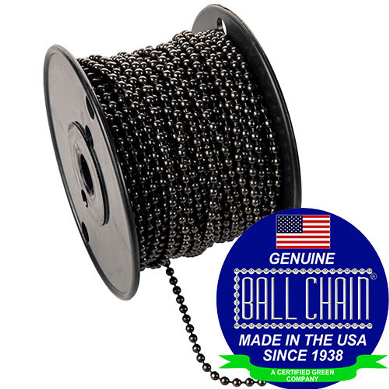 #10 Gun Metal Ball Chain Spool.