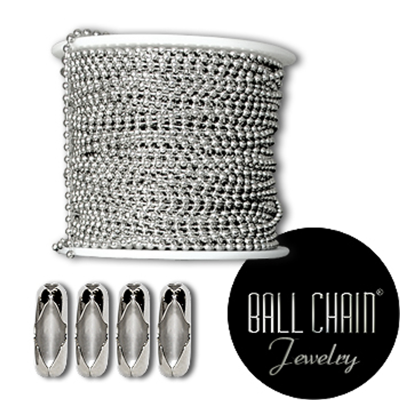 2.4 mm Sterling Silver Ball Chain Spool