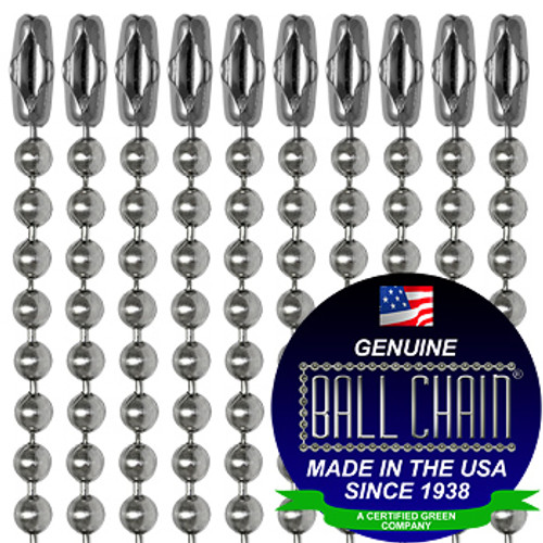 #3 Stainless Steel Ball Chains with Connector - 30 Inch Length
