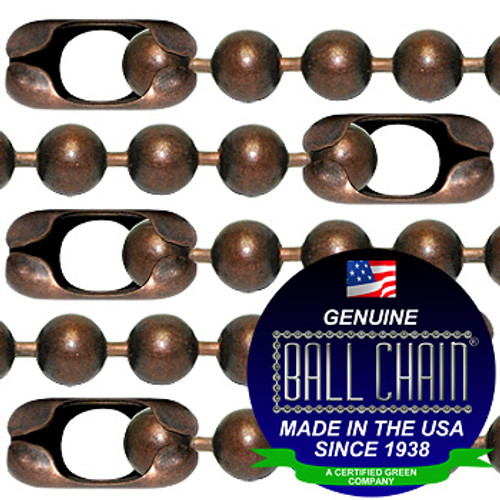 #20 Mystic Red Finish Ball Chains with Connector - 18 Inch Length