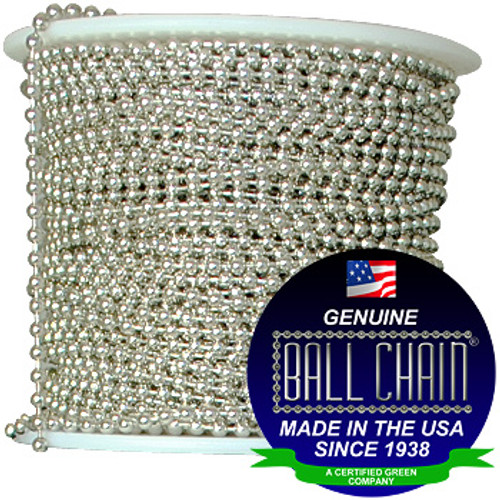 #1 Nickel Plated Brass Ball Chain Spool