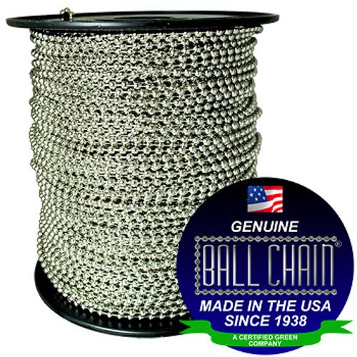 #2 Nickel Plated Steel Ball Chain Spool