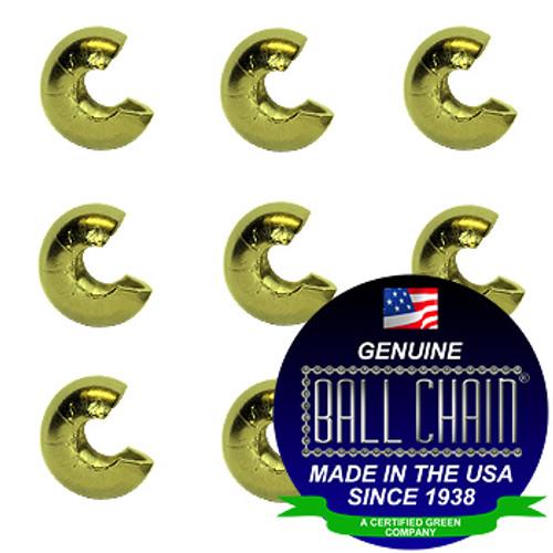5/32 Yellow Brass Open Ball