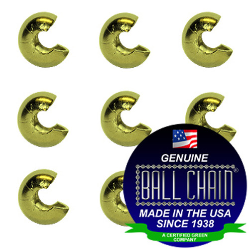 3/16 Inch Yellow Brass Open Ball