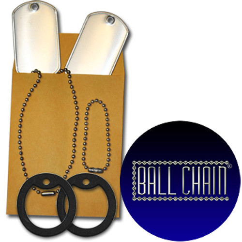 Custom Dog Tag 5 Pack (5 Dog Tags, 5 Chains, & 5 Silencers)