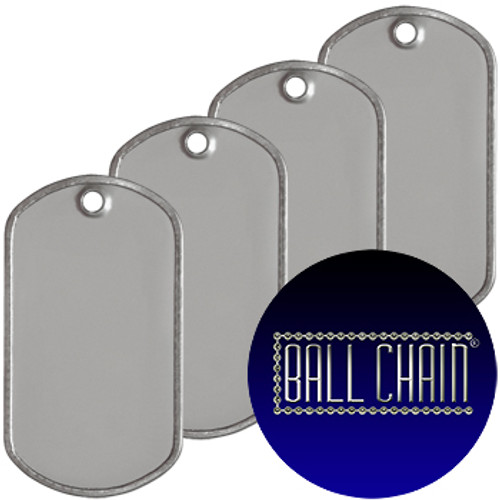 Blank Dog Tags - Rolled Edge Stainless Steel - Matte Finish