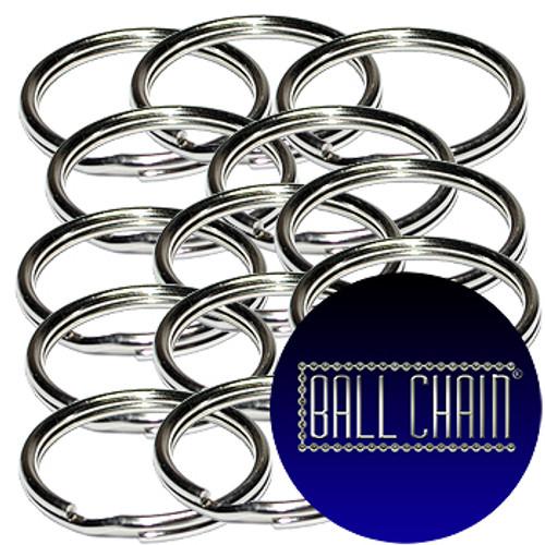 24mm Nickel Plated Steel Split Key Rings