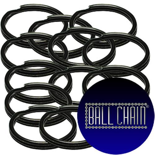 15mm Black Split Key Rings