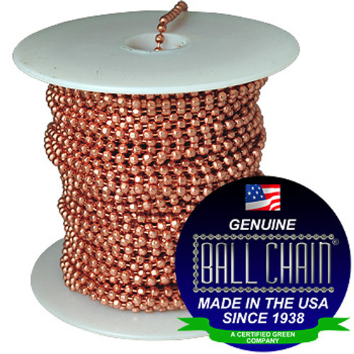 #6 Copper Faceted Style Ball Chain Spool
