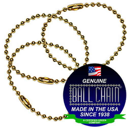 #3 Brass Plated Steel Key Chains - 4.5 Inch Length