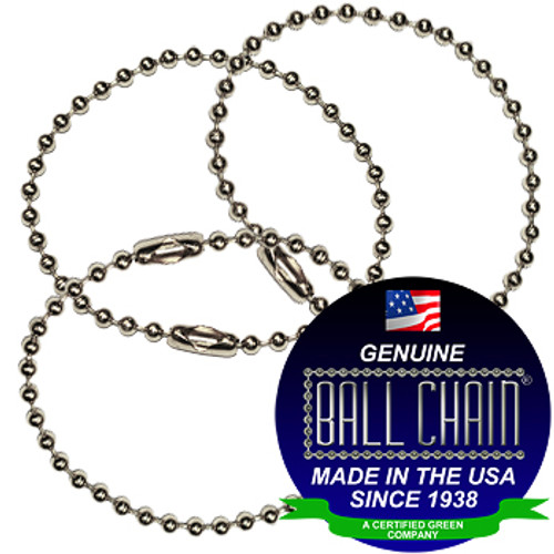#3 Nickel Plated Brass Key Chains - 6 Inch Length