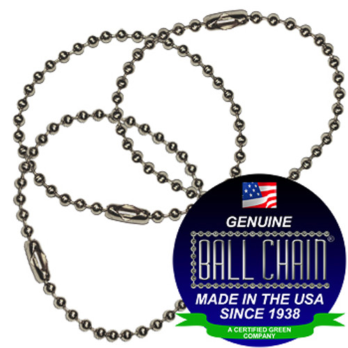 #6 Stainless Steel Key Chains - 4.5 Inch Length