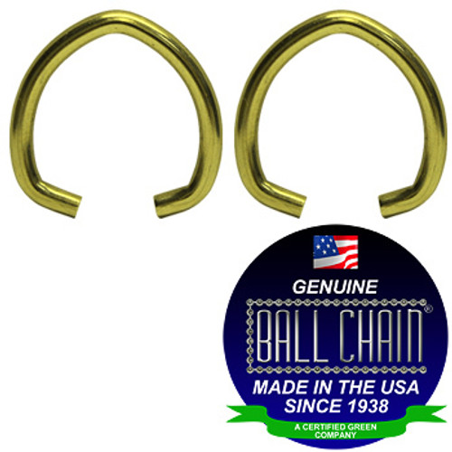 .062 Inch Oval Jump Rings - Brass Plated Steel